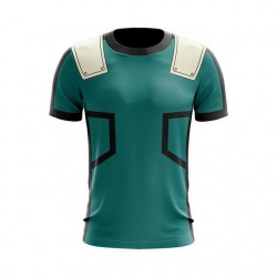 T Shirt Izuku Midoria de combat